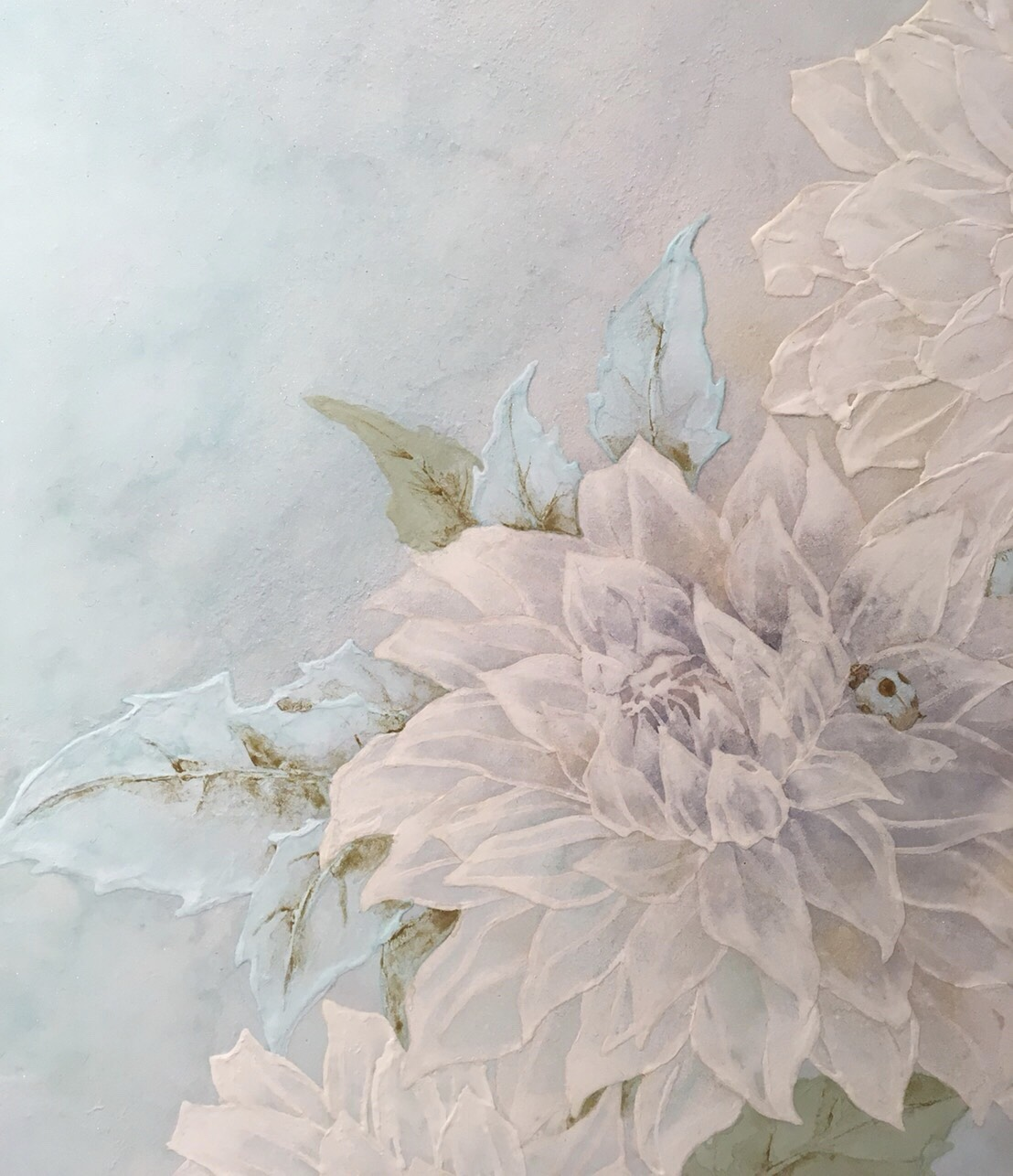 ダリアの美しい日本画