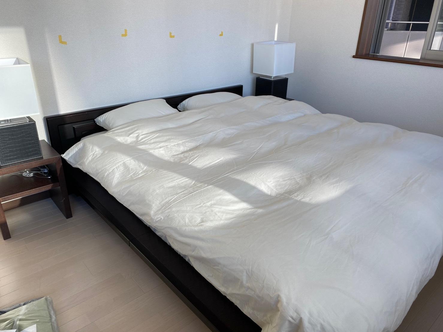 ベッドカバーの効果